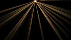 fundo de 4k Ray Stage Lighting, energia de laser da radiação, linha da passagem do túnel ilustração stock