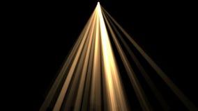 fundo de 4k Ray Stage Lighting, energia de laser da radiação, linha da passagem do túnel