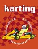 Fundo de Karting Imagens de Stock Royalty Free