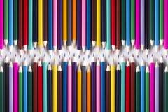 Fundo de lápis coloridos Foto de Stock
