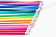 Fundo de lápis coloridos em seguido Imagem de Stock Royalty Free