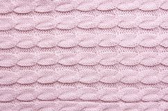 Fundo de lã feito malha da textura Fotografia de Stock Royalty Free