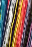 Fundo de laços de sapata coloridos Fotos de Stock
