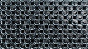 Fundo de latas de alumínio animados animação sem emenda do laço do cgi 3d Reciclando, indústria alimentar, produção de alumínio ilustração royalty free