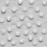 Fundo de linhas onduladas pretas abstratas, teste padrão sem emenda Fotos de Stock