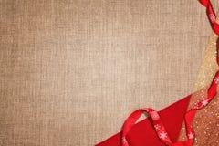 Fundo de linho do Natal Fotografia de Stock