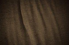 Fundo de linho velho e usado de Brown da folha Imagem de Stock