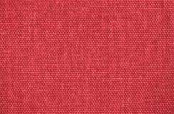 Fundo de linho vermelho da textura da tela Fotografia de Stock Royalty Free