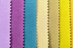 Fundo de listras coloridas do tecido de algodão, textura Fotos de Stock Royalty Free