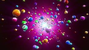 Fundo de Loopable das bolas do Bingo filme