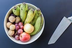Fundo de luxe do alimento Frutos diferentes da fotografia do alimento cópia Imagens de Stock Royalty Free