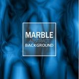 Fundo de mármore azul abstrato Fotos de Stock Royalty Free