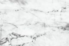 Fundo de mármore branco da textura Projeto de mármore do teste padrão dos interiores Fotos de Stock