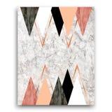 Fundo de mármore com triângulos Cópia geométrica do vetor para você Foto de Stock