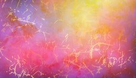 Fundo de mármore cor-de-rosa e violeta da aquarela Imagens de Stock