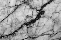 fundo de mármore natural preto e branco da textura do teste padrão Fotos de Stock Royalty Free