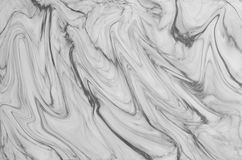 fundo de mármore natural preto e branco da textura do teste padrão Foto de Stock