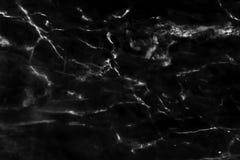 Fundo de mármore preto da textura do teste padrão Imagens de Stock Royalty Free