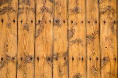 Fundo de madeira amarelo da textura Imagem de Stock