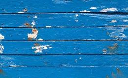 Fundo de madeira azul Imagem de Stock Royalty Free