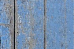 Fundo de madeira azul da textura Imagens de Stock Royalty Free