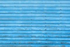 Fundo de madeira azul da textura Fotos de Stock Royalty Free