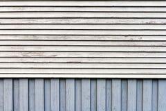 Fundo de madeira azul e branco da parede Imagens de Stock Royalty Free