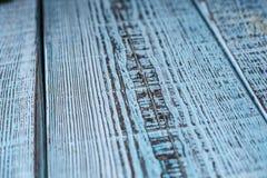 Fundo de madeira azul Mesa e velho materiais Foto de Stock