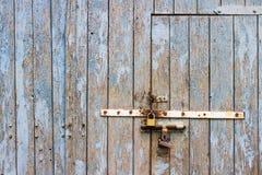 Fundo de madeira azul rachado velho fotografia de stock royalty free