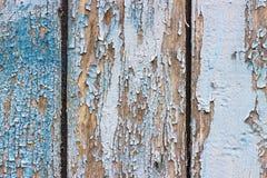 Fundo de madeira azul rachado velho fotos de stock royalty free