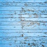 Fundo de madeira azul velho da parede do vintage Imagens de Stock