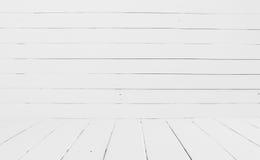 Fundo de madeira branco da parede Fotos de Stock Royalty Free