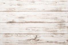 Fundo de madeira branco da textura com testes padrões naturais Foto de Stock