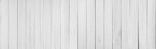 Fundo de madeira branco da textura da prancha Foto de Stock
