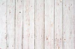 Fundo de madeira branco da textura Foto de Stock