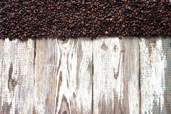Fundo de madeira branco do café Imagens de Stock
