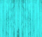 Fundo de madeira ciano fotografia de stock