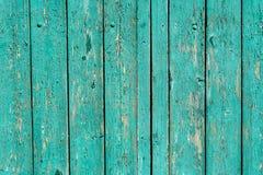 Fundo de madeira ciano do entabuamento com falhas imagens de stock