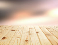 Fundo de madeira claro da tabela para o produto Fotografia de Stock Royalty Free
