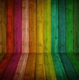 Fundo de madeira colorido Imagens de Stock Royalty Free