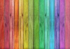 Fundo de madeira colorido abstrato da textura Imagem de Stock
