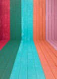 Fundo de madeira colorido da parede foto de stock