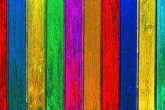 Fundo de madeira colorido das pranchas Fotografia de Stock Royalty Free