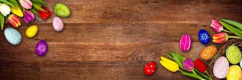 Fundo de madeira colorido de easter Foto de Stock