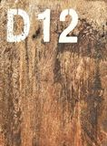 Fundo de madeira com alfabeto e número Fotos de Stock
