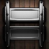 Fundo de madeira com elemento do metal Fotos de Stock Royalty Free