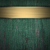 Fundo de madeira com faixa dourada Foto de Stock Royalty Free