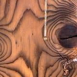 Fundo de madeira com gota da resina Fotografia de Stock
