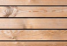Fundo de madeira com placas horizontais Fotos de Stock