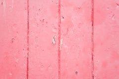 Fundo de madeira cor-de-rosa Fotos de Stock